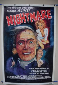 Nightmare (1981) Italian Giallo Horror Poster - US International Style One Sheet